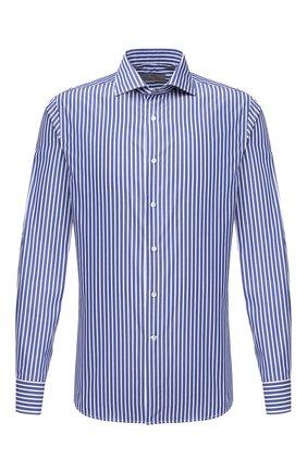 Мужская хлопковая сорочка CANALI синего цвета, арт. XC3/GD01943   Фото 1