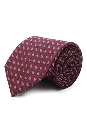 Мужской шелковый галстук CANALI фиолетового цвета, арт. 70/HJ02802 | Фото 1