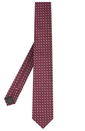 Мужской шелковый галстук CANALI фиолетового цвета, арт. 70/HJ02802 | Фото 2