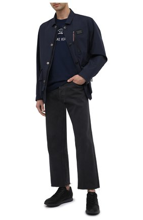 Мужские кожаные кроссовки HOGAN черного цвета, арт. HXM3210K15203R | Фото 2