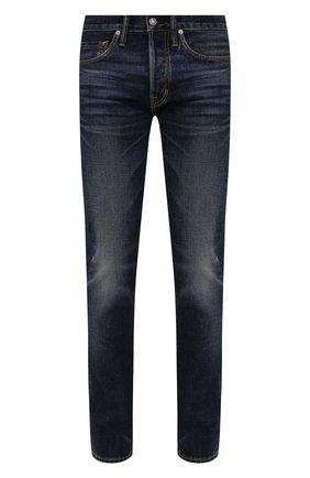 Мужские джинсы TOM FORD темно-синего цвета, арт. BVJ31/TFD002 | Фото 1