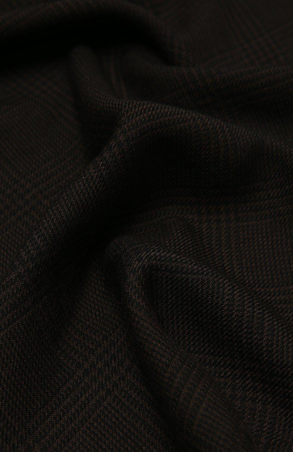 Мужской шерстяной шарф TOM FORD темно-коричневого цвета, арт. 8TF135/2BL | Фото 2