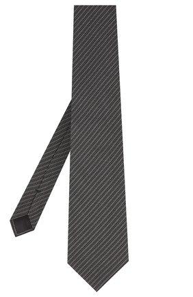Мужской шелковый галстук TOM FORD черного цвета, арт. 8TF12/XTF | Фото 2