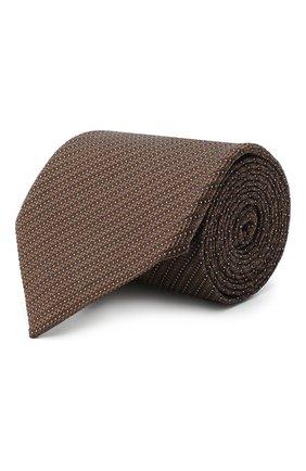 Мужской шелковый галстук TOM FORD светло-коричневого цвета, арт. 8TF12/XTF | Фото 1