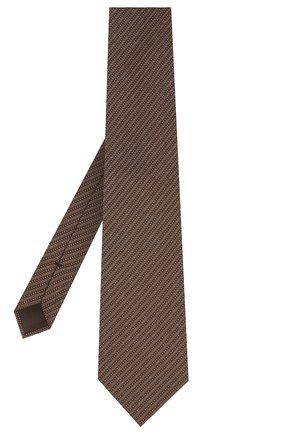 Мужской шелковый галстук TOM FORD светло-коричневого цвета, арт. 8TF12/XTF | Фото 2