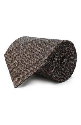 Мужской шелковый галстук TOM FORD коричневого цвета, арт. 8TF11/XTF | Фото 1