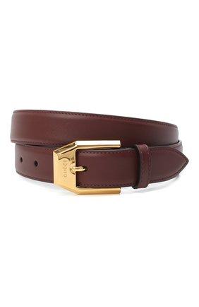 Мужской кожаный ремень GUCCI бордового цвета, арт. 625473/BGH0G | Фото 1