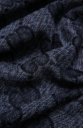 Мужской шерстяной шарф GUCCI темно-синего цвета, арт. 625898/4G059 | Фото 2