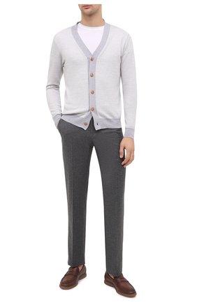 Мужская шерстяной кардиган ALTEA серого цвета, арт. 2061210 | Фото 2