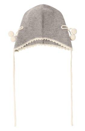 Детского кашемировая шапка OSCAR ET VALENTINE серого цвета, арт. BON04CHERRY | Фото 1