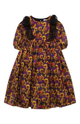Детское шелковое платье PAADE MODE разноцветного цвета, арт. 20410841/4M-8Y   Фото 1