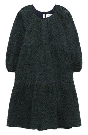Детское хлопковое платье PAADE MODE зеленого цвета, арт. 20410932/4M-8Y   Фото 1