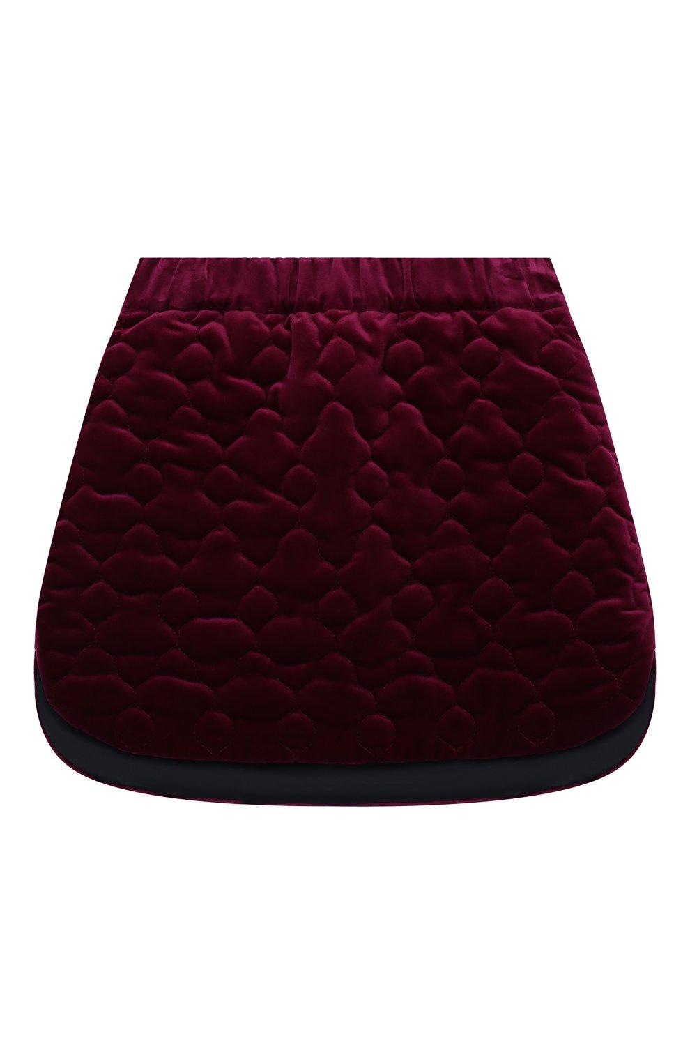 Детская хлопковая юбка PAADE MODE фиолетового цвета, арт. 20416614/4M-8Y | Фото 1 (Случай: Повседневный; Материал внешний: Хлопок; Материал подклада: Вискоза; Ростовка одежда: 6 лет | 116 см, 8 лет | 128 см)