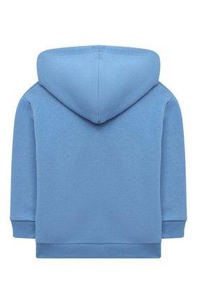 Детский хлопковое худи GUCCI голубого цвета, арт. 564471/XJCSM | Фото 2
