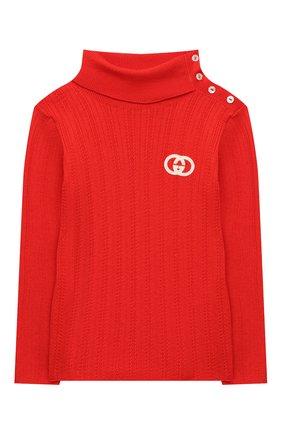 Детский шерстяная водолазка GUCCI красного цвета, арт. 622705/XKBHD | Фото 1