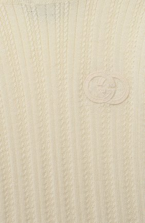 Детский шерстяная водолазка GUCCI белого цвета, арт. 622705/XKBHD   Фото 3
