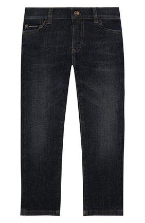 Детские джинсы DOLCE & GABBANA синего цвета, арт. L42F05/LD935/2-6   Фото 1