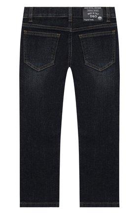 Детские джинсы DOLCE & GABBANA синего цвета, арт. L42F05/LD935/2-6   Фото 2