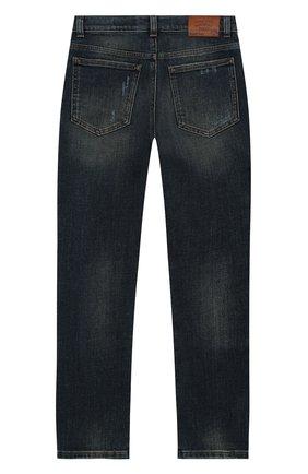 Детские джинсы DOLCE & GABBANA синего цвета, арт. L42F33/LD943/8-14   Фото 2