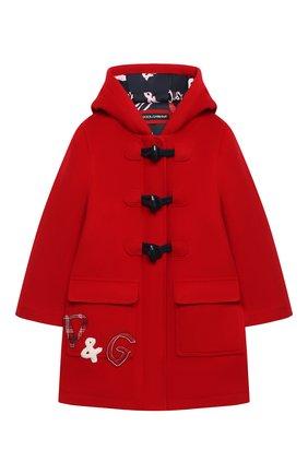 Детское шерстяное пальто DOLCE & GABBANA красного цвета, арт. L53C11/G7WVA/2-6   Фото 1
