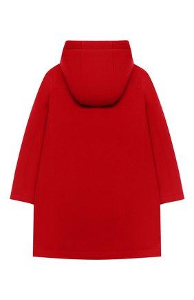 Детское шерстяное пальто DOLCE & GABBANA красного цвета, арт. L53C11/G7WVA/2-6   Фото 2