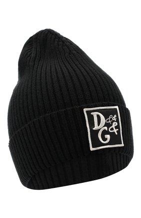 Детского шерстяная шапка DOLCE & GABBANA черного цвета, арт. LBKH50/JAVYI | Фото 1