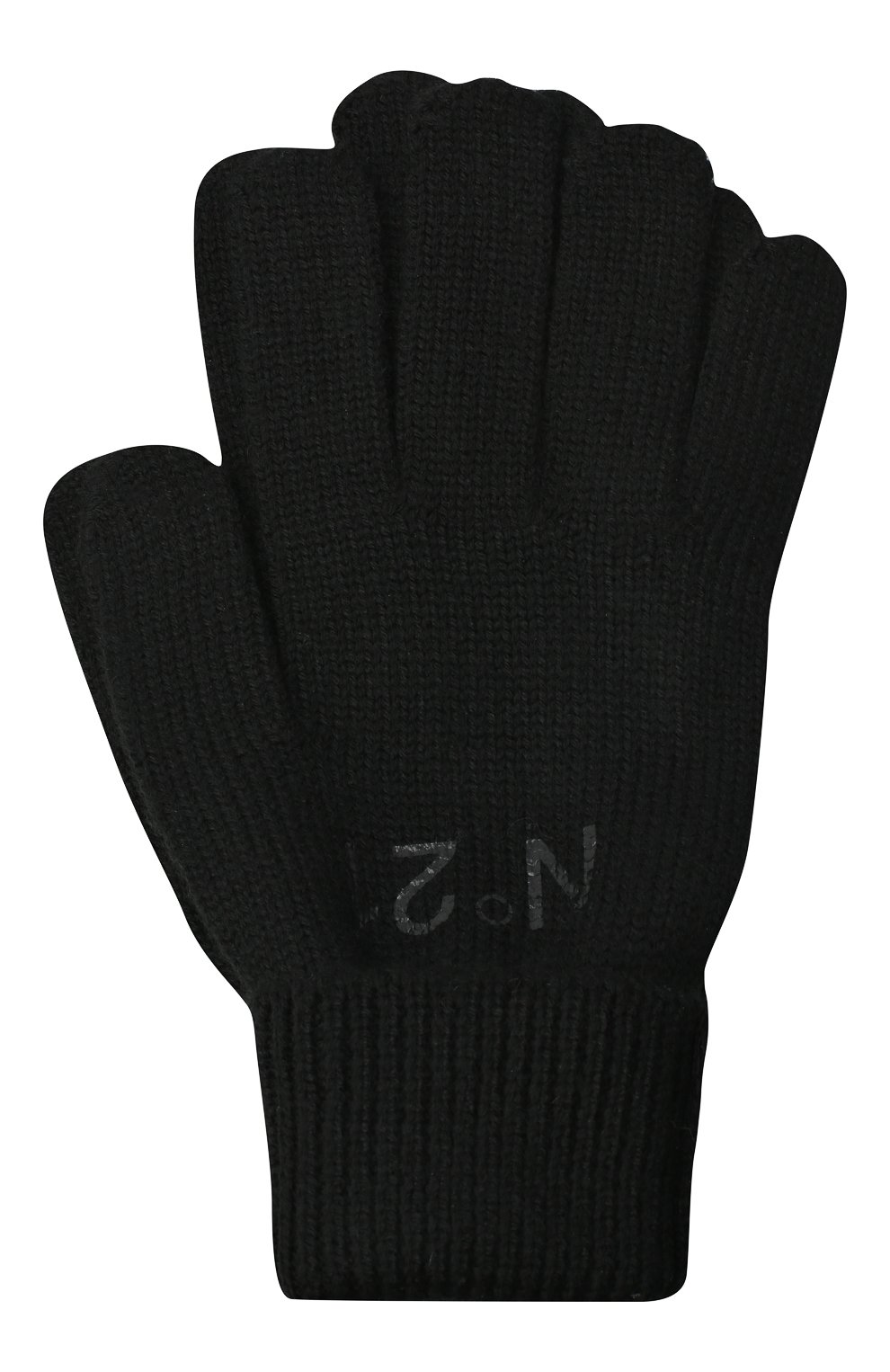 Детские перчатки N21 черного цвета, арт. N214DY/N0117/N21N3U   Фото 1