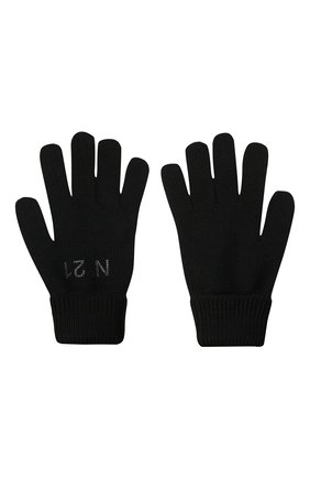 Детские перчатки N21 черного цвета, арт. N214DY/N0117/N21N3U   Фото 2