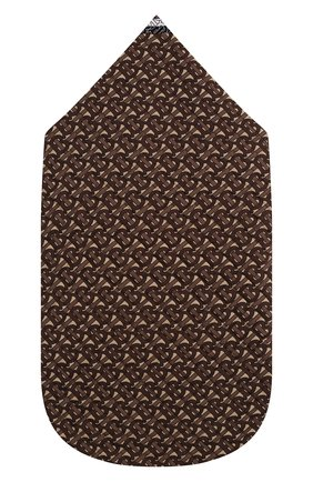 Детский хлопковый конверт BURBERRY коричневого цвета, арт. 8030358 | Фото 2