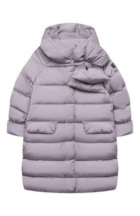 Детское пуховое пальто IL GUFO сиреневого цвета, арт. A20GP262N0031/10A-12A   Фото 1