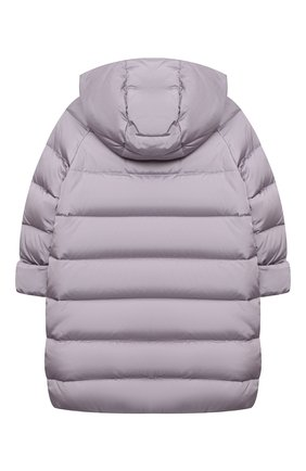 Детское пуховое пальто IL GUFO сиреневого цвета, арт. A20GP262N0031/10A-12A   Фото 2
