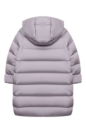 Детское пуховое пальто IL GUFO сиреневого цвета, арт. A20GP262N0031/5A-8A | Фото 2
