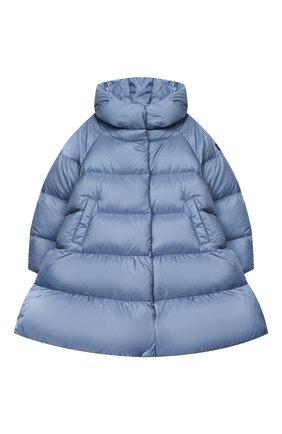 Детское пуховое пальто IL GUFO голубого цвета, арт. A20GP263N0068/5A-8A   Фото 1