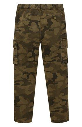Детские хлопковые брюки-карго IL GUFO хаки цвета, арт. A20PL308C4053/2A-4A | Фото 2 (Материал внешний: Хлопок; Мальчики Кросс-КТ: Брюки-одежда; Ростовка одежда: 18 мес | 86 см, 2 года | 92 см, 3 года | 98 см)