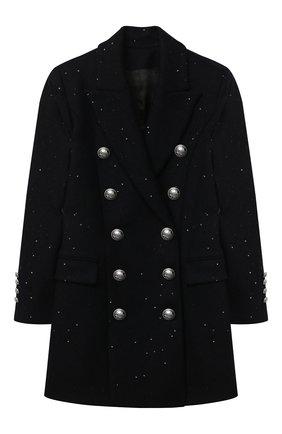 Детское шерстяное пальто BALMAIN синего цвета, арт. 6N2030/NB160/12-16   Фото 1