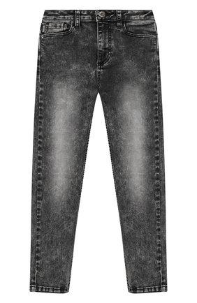 Детские джинсы MOSCHINO серого цвета, арт. HUP03X/LXE22/4A-8A | Фото 1