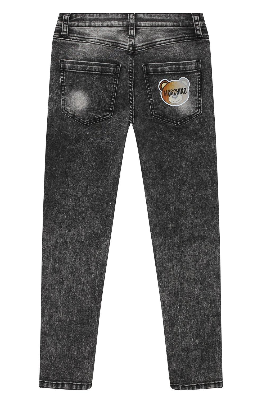 Детские джинсы MOSCHINO серого цвета, арт. HUP03X/LXE22/4A-8A | Фото 2