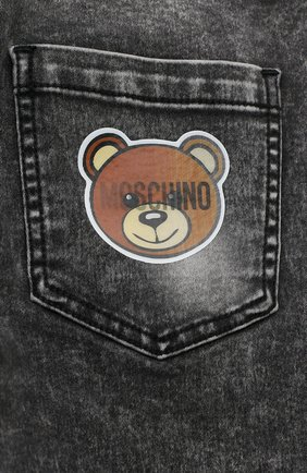 Детские джинсы MOSCHINO серого цвета, арт. HUP03X/LXE22/4A-8A | Фото 3