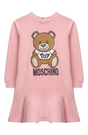 Женский хлопковое платье MOSCHINO розового цвета, арт. MAV07M/LDA14 | Фото 1