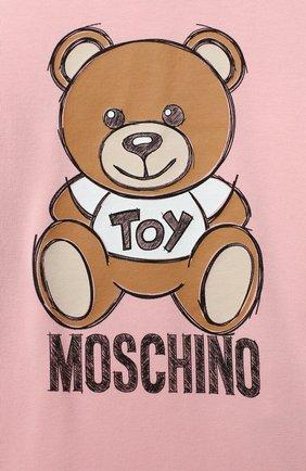 Женский хлопковое платье MOSCHINO розового цвета, арт. MAV07M/LDA14 | Фото 3
