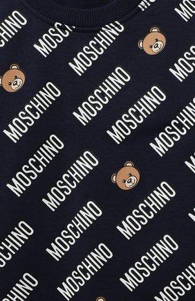 Детский комплект из свитшота и брюк MOSCHINO темно-синего цвета, арт. MMK02P/LDB45 | Фото 6