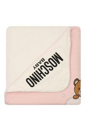Детского хлопковое одеяло MOSCHINO розового цвета, арт. MUB006/LCE00 | Фото 1