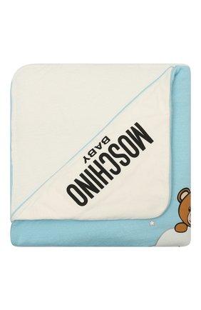 Детского хлопковое одеяло MOSCHINO голубого цвета, арт. MUB006/LCE00 | Фото 1