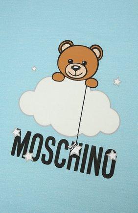 Детского хлопковое одеяло MOSCHINO голубого цвета, арт. MUB006/LCE00 | Фото 2