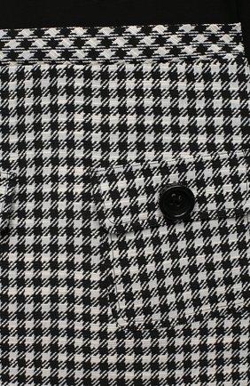Детское платье EMPORIO ARMANI черно-белого цвета, арт. 6H3A12/2NMMZ   Фото 3 (Рукава: Длинные; Случай: Повседневный; Материал внешний: Синтетический материал, Хлопок)