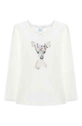 Детская хлопковая пижама SANETTA белого цвета, арт. 232494 | Фото 2
