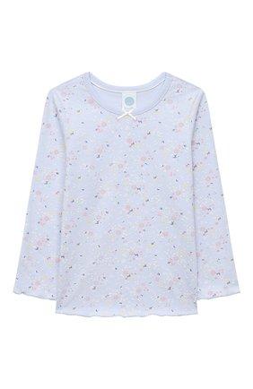 Детская хлопковая пижама SANETTA голубого цвета, арт. 232493 | Фото 2