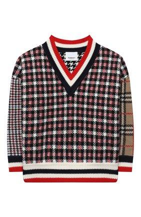 Детский шерстяной пуловер BURBERRY разноцветного цвета, арт. 8032677 | Фото 1