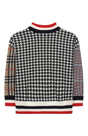 Детский шерстяной пуловер BURBERRY разноцветного цвета, арт. 8032677 | Фото 2