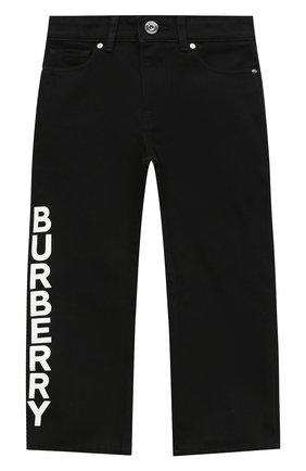 Детские джинсы BURBERRY черного цвета, арт. 8033291   Фото 1